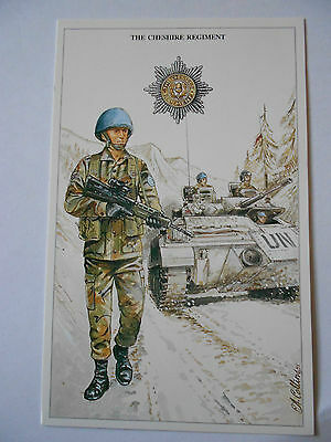 Military Postcard- The Cheshire Regiment By Christopher A Collins