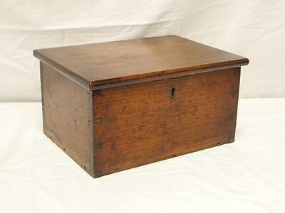 A Lovely Antique Country Oak Desk Top Storage Box