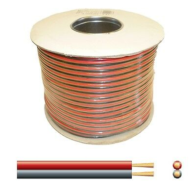 25A Automotive DC Power Cable - Twin Core Figure '8' 12V Black/Red - 100m reel