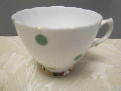 Vintage Royal Vale Fine Bone ChinaGreen Domino Dots (pattern 7374) Tea Cup