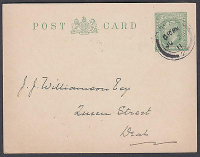 1911 East Kent Colliery Co, Dover CDS to Deal; KEVII 1/2d green Stat. Postcard