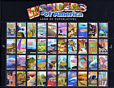 Usa Stamps #4033 - 72 Wonders Of America Sheet Of 40 X 39 Cents New Sealed Mnh