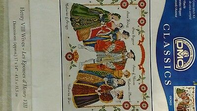 Henry VIII and his six wives cross stitch chart
