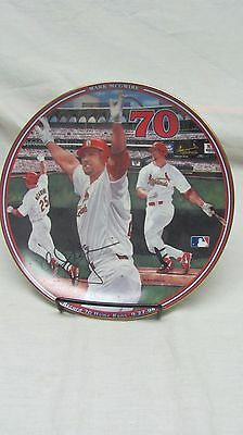 1998 Mark McGwire St.Louis Cardnials Record 70 Homers Bradford Plate