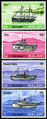 Malawi 67-70 MNH - Steamers on Lake Malawi
