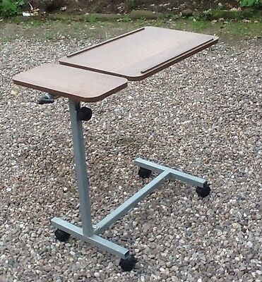 Adjustable Disabled Bed/ Chair Table On Wheels