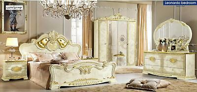 Classic ESF Leonardo King 5 Piece Bedroom Set Made in Italy by Camelgroup