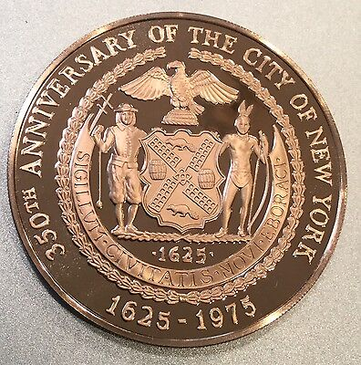 New York And Amsterdam Sister Cities Coin Medal