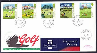 1994 Golf set on First Day Cover with the very scarce CADDY CDS 5-07-94