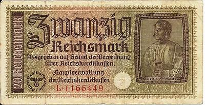 Nazi Germany banknote paper money for Poland, Ukraine & Russia F+ condition