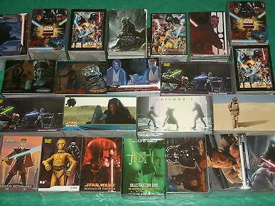Star Wars Trading Card Base Sets: Jedi,Galaxy,Darth Vader,Animated,Movies,Topps