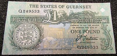 1991 + States of Guernsey Channel Islands £1 Banknote