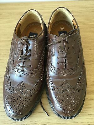 Mens Brown Leather Brogues Size 6 Malvern Shoes