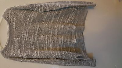 Grey/white marl thin knit jumper size 8 by New Look girls/ladies