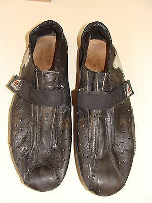 ~ Vintage Bata Leather Cycling Shoes With Cleats Size 47 L'Eroica ~