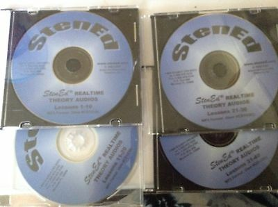 StenEd Realtime Theory Audios (4 CDs) Court Reporting