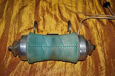 VINTAGE DECO CHANDELIER ORIGINAL GLASS SHADE WALL BED LIGHT FIXTURE 1930's