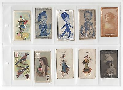 Early Vintage Cigarette Cards -  Various Plain Backed ( Turf, Cope Bros etc )