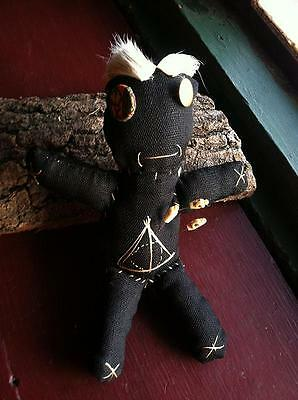 "Primitive 9.5"" VOODOO DOLL Authentic Witchcraft Original Art Jessica Oliver OOAK"