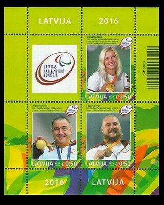 LATVIA 2016-23 Sport: Medalists of Summer Paralympic Games, Brazil, MNH