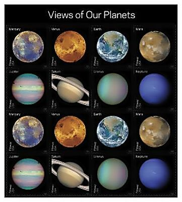 Us Views Of Our Planets Forever Stamp Sheet Of 16 New Mnh