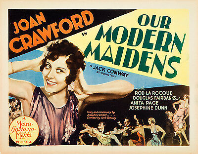 Our Modern Maidens 11 X 14 Title Lobby Card LC  Joan Crawford