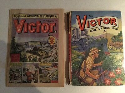 THE VICTOR BOOK FOR BOYS ANNUAL 1966 Vintage 50th birthday Unclipped With Comic