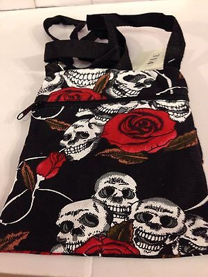 Wholesale skull rose gothic small shoulder bag -12