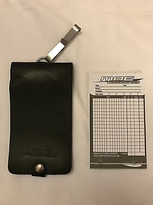 MAC Archery Leather Scorepad - Black - With Refill Pad - Brand New