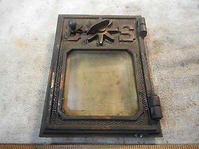 """1901 Post Office Box Door Small #1 Brass """"us"""" With Combination W/ Beveled Glass!"""
