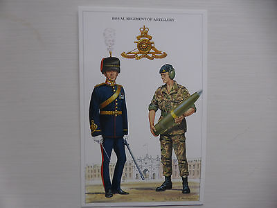 British Army Series Post Card c 1992. Royal Regiment of Artillery