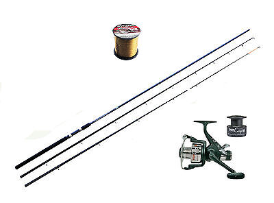 Team Specialist Barbel Rod -11ft twin top Avon & Free spool 040 reel with line