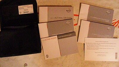 2013 Nissan Altima Sedan Owners Manual Set With Case