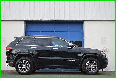 2014 Jeep Grand Cherokee Limited 4WD 4X4 3.6L Leather Nav Moonroof Rear Cam Repairable Rebuildable Salvage Runs Great Project Builder Fixer Easy Fix Save