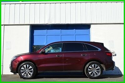 2014 Acura MDX AWD Technology Pkg Rear Entertainment Pkg Loaded Repairable Rebuildable Salvage Runs Great Project Builder Fixer Easy Rear Hit