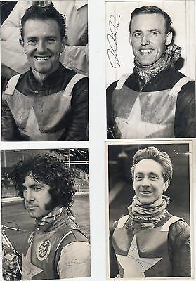 Wimbledon Speedway Original Vintage Photographs ALL HAND SIGNED