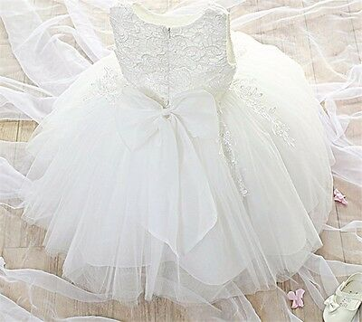 Gwen Baby Flower Girl Dress Christening Wedding Party Pageant Gown Bridesmaid