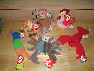 six  ty beanie babies from Mcdonalds happy meals