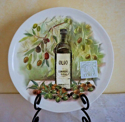 NWT ~ CERAMICA CUORE ~ MADE in ITALY  ~ OLIVES ~ 1 LUNCH SALAD DESSERT PLATE