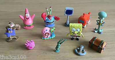 12 x SPONGEBOB SQUAREPANTS CHARACTER COLLECTABLE FIGURINE TOYS