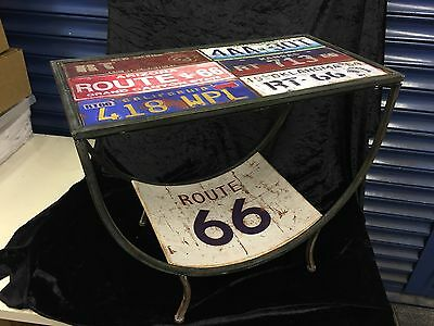 American Number Plate Unique Table