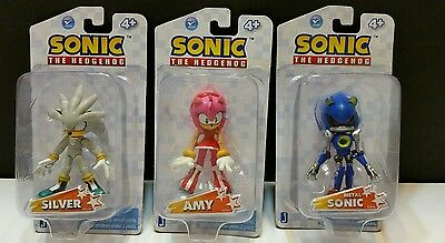 Sonic The Hedgehog 3.5 Inch Action Figure Silver Amy Metal Sonic New