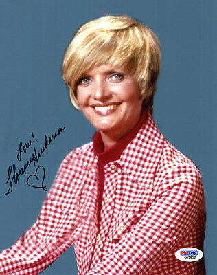 """(SSG) FLORENCE HENDERSON Signed 8X10 Color """"Brady Bunch"""" Photo with PSA/DNA COA"""
