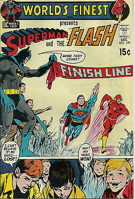 World's Finest #199 Superman and The Flash (DC Comics, Dec 1970) 8.0 VF