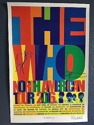 The Who Hits 50 - 2016 Tour Poster Signed by Roger Daltrey & Pete Townshend