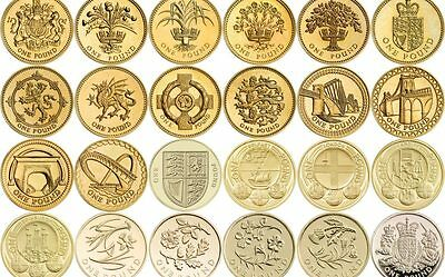 £1 ONE POUND UK Dates 1983 - 2016 RARE COINS