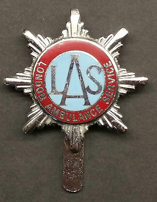 Obsolete - London Ambulance Service Badge (Red/Blue)
