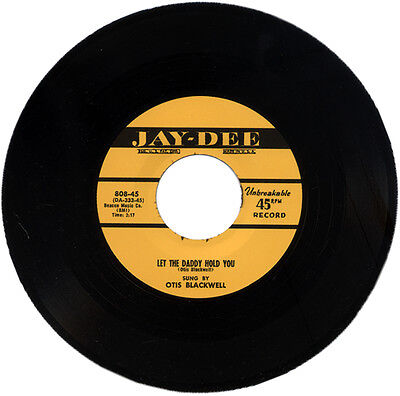 """OTIS BLACKWELL  """"LET THE DADDY HOLD YOU""""   DRIVING 50's R&B MOVER   LISTEN!"""