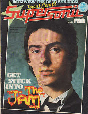 Supersonic Magazine September 1977   The Jam   The Jacksons  Mike Conteh  Alessi