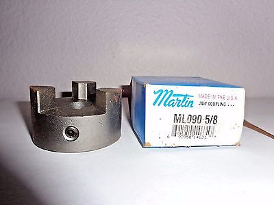 "NEW Martin ML090  5/8 "" Inch Shaft  2-1/8"" OD 3 Jaw Drive Coupler Motor Coupling"